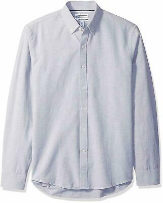 Amazon Essentials Men's Slim-fit Long-Sleeve Solid Oxford Shirt Gray XL X-Large
