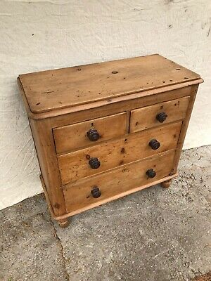 Small Antique Victorian Pine Chest of Drawers