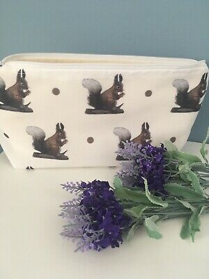 Squirrel, Red Squirrel, Makeup Bag, Cosmetics Bag, For Squirrel Lovers