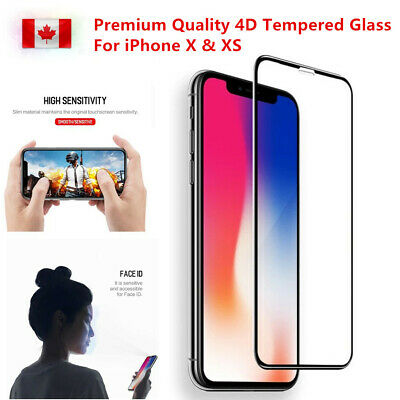 Premium Full Tempered Glass Screen Protector Curved For iPhone X XS w/ Free Gift