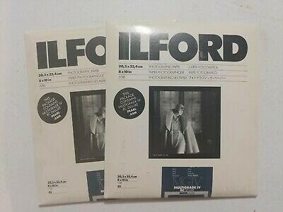 Ilford Photo Paper Multigrade IV RC Deluxe 8x10 MGD.44M 25ct Pearl old stock