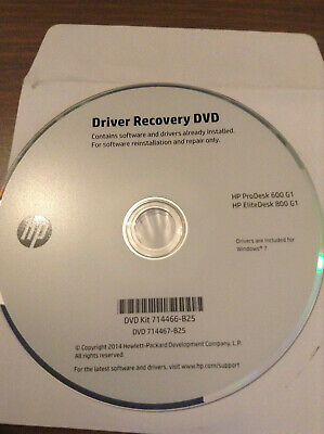 HP WINDOWS 8 1 Application and Driver Recovery DVD CD EliteBook