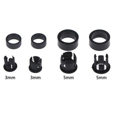 20Set 3mm/5mm Plastic LED Holders Clips-Bezels Mounts Cases With Outer ring EF