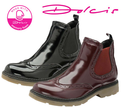 British Footwear Dolcis Winlove Chelsea Memory Foam Pull On Ankle Brogue Boot
