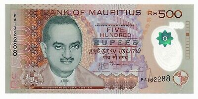Mauritius 500 Rupees 2013 P. 66 UNC Polymer Note