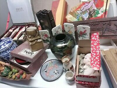 Estate antique vintage  chinese japanese asian oriental lot NOSHIP PICkUP ONLY