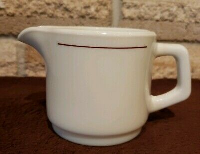 ARCOPAL France Gastronomie Arc Restaurant ware CREAMER maroon Ivory glass