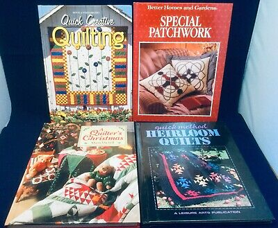 4 Quilting H/B Books Glorious Patchwork Christmas Thimbleberries Classic Euc
