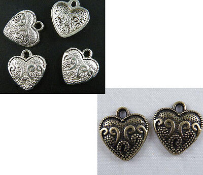 200 Tibetan Silver//Bronze Color Little Heart Connectors 10x5.5mm ZN6294