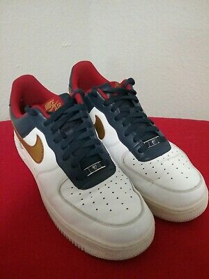 NIKE AIR FORCE 1 MID SZ 9 players XXV 25 AF 1 82 brown red 2007 anniversary le eBay  eBay