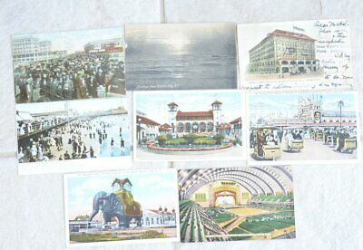 (8) Vintage 1907 NEW JERSEY Atlantic City BOARDWALK Beach GARDEN PIER Post Cards