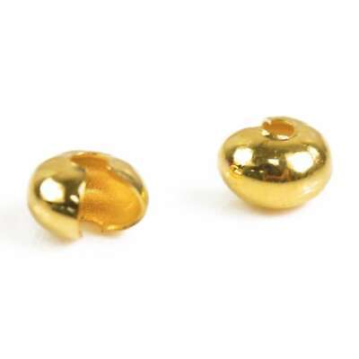 100pcs Crimp Cover End Beads Jewellery Findings Gold 4mm Hot Sale IFCP0028-1