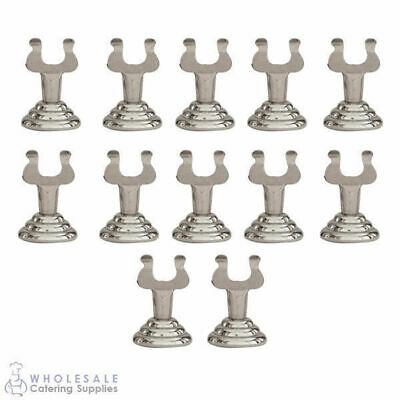 12x Harp Number / Sign Holder Chrome 35mm Menu / Card / Table Number Stand