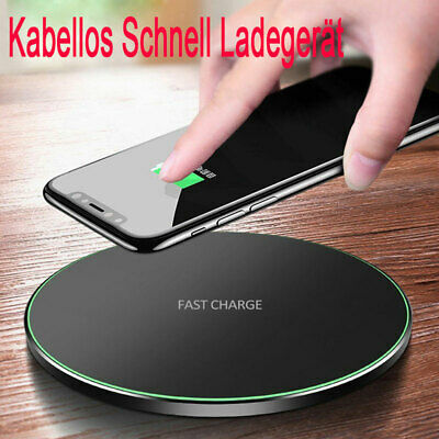 Qi Wireless Charger Ladegerät Kabellos Ladestation For Samsung S10 9 8 iPhone 11