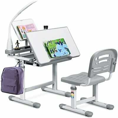 Swell Height Adjustable Children Kids Study Desk Table Chair Set Gmtry Best Dining Table And Chair Ideas Images Gmtryco