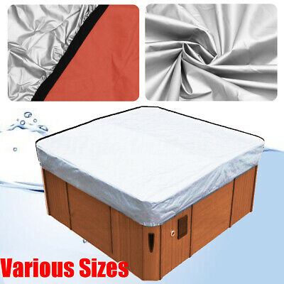 Silver Oxford Fabric Spa Cover Cap Hot Tub Waterproof Protector Various  !
