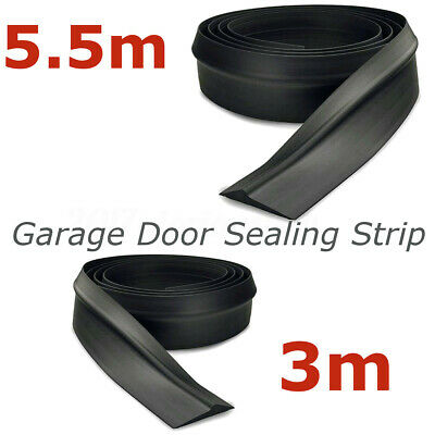 9.8ft/18ft Garage Door Seal Bottom Rubber Weatherproof Weather Stripping