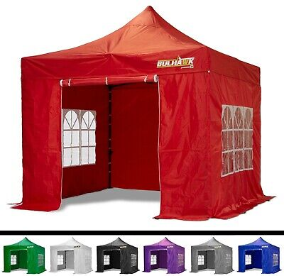 BULHAWK® 3x3m COMMERCIAL GRADE HEAVY DUTY POP UP GAZEBO MARKET STALL MARQUEE