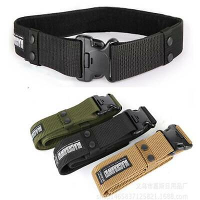Men Belt Buckle Adjustable Military Combat Waistband Tactical Rescue Rigger Tool