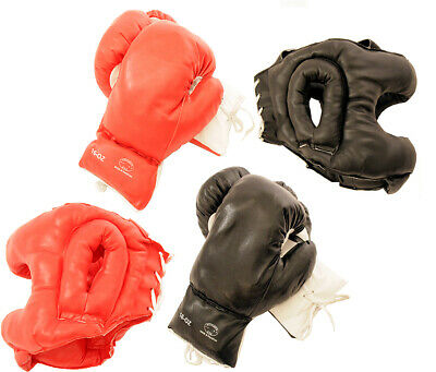 2 Pairs 10oz to 20oz Boxing Gloves and 2 Head Guards Set Training Gear New