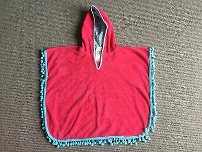 Pre-Owned Young Hearts By Collette Dinnigan Girls Red Kaftan Size Small