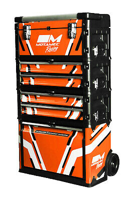 Motamec Racing ORANGE Modular Tool Box Trolley Mobile Cart Cabinet Chest C41H