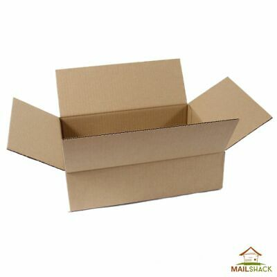 "15 STRONG SINGLE WALL CARDBOARD BOXES 12 x 9 x 3"" Mailing Packing Postal Removal"