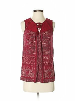 NWT New Lucky Brand Women/'s Watercolor Floral Top Red//Multi Size Small 7W62385