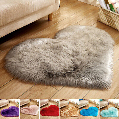 Fluffy Rugs Anti-Skid Shaggy Area Rug Dining Room Home Bedroom Carpet 30*40cm