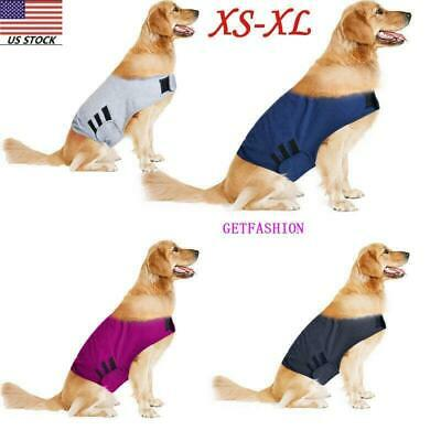 US Pet Dog Calm Jacket  Anti-Anxiety Stress Relief Vest Coat Cotton Costume GEMS