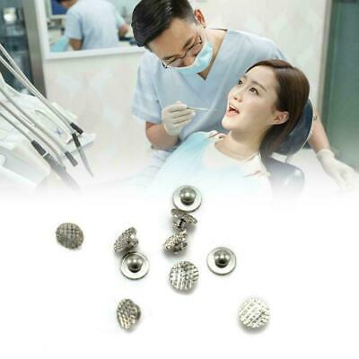 10Pcs Dental Lingual Button Orthodontic Crimpable Hooks Bracket E1Q2