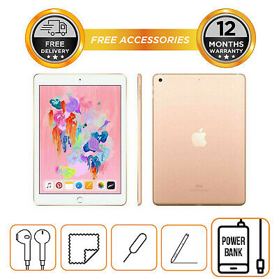 "Apple iPad 6th Gen 128GB Gold 9.7"" 2018 model - MRJP2B/A"