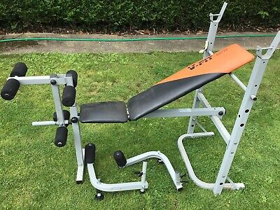 V Fit Exercise Weight Lifting Bench With Arm And Leg Curls