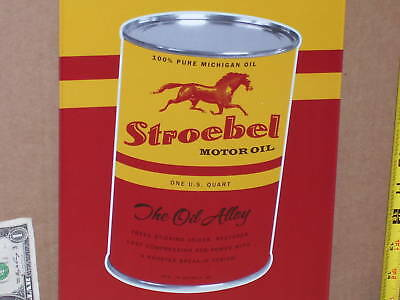 OIL CAN SIGN - RACE HORSE -100% PURE - From Detroit Michigan - Old Quart Tin Can