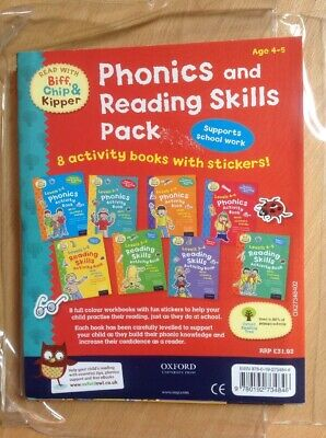 Read With Biff Chip & Kipper Phonics & Reading Skills Pack 8 Activity Books New