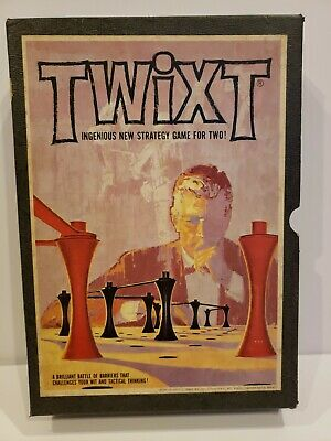 Vintage 1962 TWIXT Strategy Game 3M Bookshelf Book Shelf Complete Game