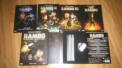 Sylvester stallone rambo 8 dvd limited collectors edition lot rare german uncut
