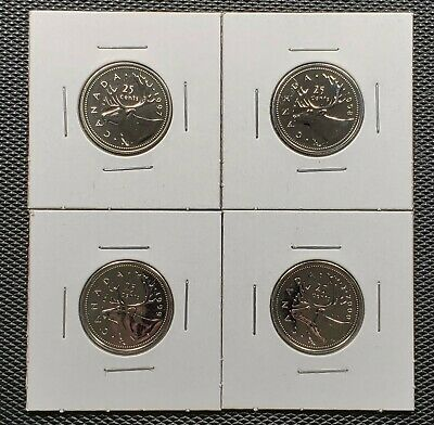 Canada 1997 1998 1999 2000 W Proof Like 25 Cents Lot Low mintage