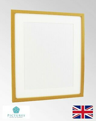 "Pine Photo Picture Poster Panoramic 19mm Frame Off White MOUNT 3x3-10x18"" A6-A4"