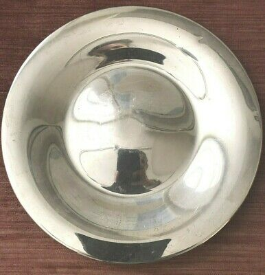 """Sterling 10"""" Plate-Fisher #1540 2 small dings-was award-has engraving 322.2g!"""