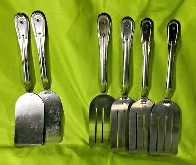 Commercial Metal Spatulas / Turners Stanton Stainless Steel Utensils Lot of 6