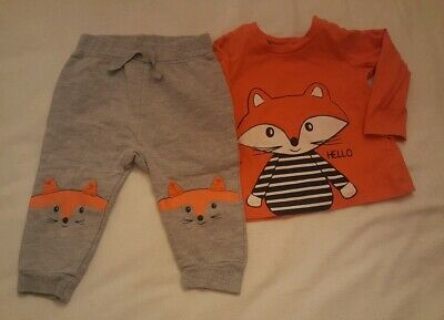 boys outfit top trousers age 6-9 months