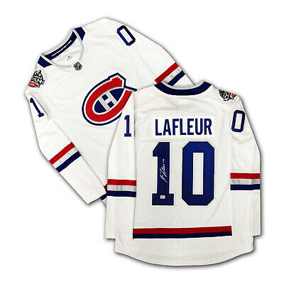 official photos 6612c 4cd09 GUY LAFLEUR AUTOGRAPHED White Montreal Canadiens Jersey