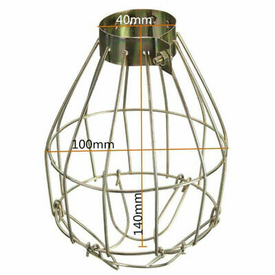 Bronzed Vintage Metal Wire Bulb Cage Lamp Guard Shade For Light Industrial US