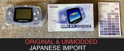 Nintendo Gameboy Advance Glacier Blue Japan Console-2001-Boxed With Manual+Mint