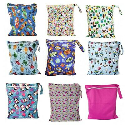 Wet Bag waterproof 35x40cm larger for Nappies, Clothes, Swimmers, nappy bag kid