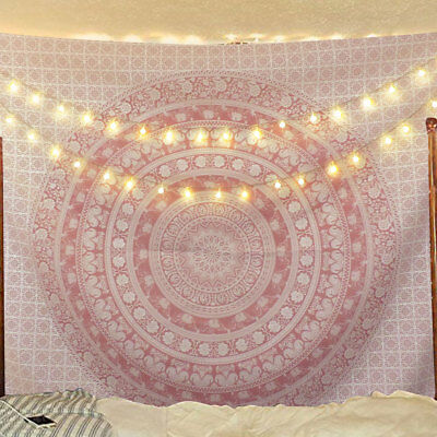 US Stock Hippie Mandala Tapestry Art Wall Hanging Psychedlic Tapestry Bedspread