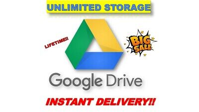 Unlimited Google Drive Storage Lifetime One Payment Instant Delivery!! Hurry!!