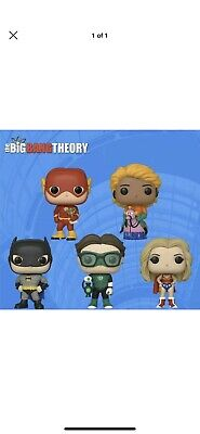 SDCC 2019 Funko POP Big Bang Theory FULL SET OF 5 OFFICIAL BOOTH STICKER