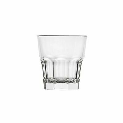 24x Polysafe Rocks Tumbler 240mL Polycarbonate Clear Plastic Stackable Glass